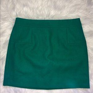 J. Crew Wool Blend Felted Mini Pencil Skirt Size 8